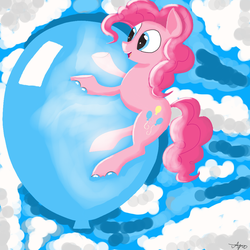 Pinkys balloon by Draw-Purple-1