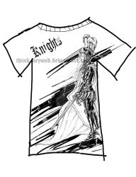 Knight T-shirt design by think-beyond