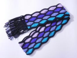 stained glass scarf for Tarkie by MasterPlanner