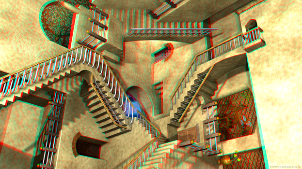 Escher Relativity - Stereo 3d by ICPJuggalo1988