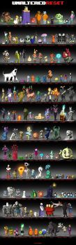 Undertale Reset - First characters Round Up by oennarts