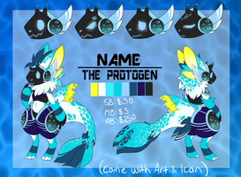 Protogen design #19[+Art and Icon] auction -CLOSED by NazaKiru