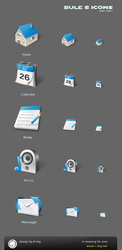 blue style 5 icons by Rskys
