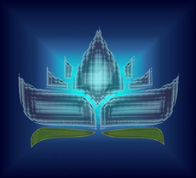 Blue Crystal Lotus by Slivermoon