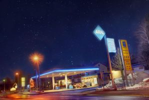 HDR - Petrol Station by Squadz2000