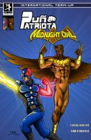 Patriot Fist and  Midnnight Owl Team-Up By DMA by MidnightOwl07