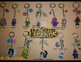 LEAGUE of LEGENDS -  Keyrings 2 by ChilliEleen