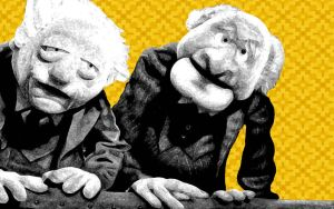 Statler and Waldorf wall by skwigalls