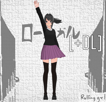 [MMD] Ayano Rolling Girl [+DL] by BooMaker