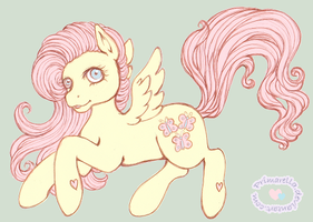 Pony practice: Fluttershy by Primarella