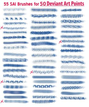 55 SAI Brushes for 50 points and POST LINK by DerKlox-Cloxboy