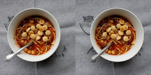 Stereograph - Ministrone Soup by alanbecker