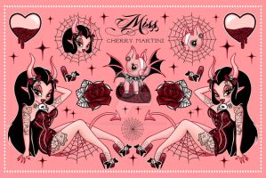 Devil Girl Flash On Peach by Miss-Cherry-Martini