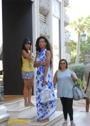 Tall Rihanna on steps by lowerrider