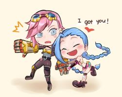 Jinx and VI by lancer0519