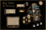 BB'B Steampunk for Rainmeter by Mordasius