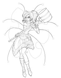 Harley Fairy Lineart by KittysTavern