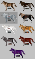 Adopt : Mystery wolves CLOSED by Zeldienne