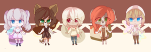 sweet treat adoptables [OPEN] by CynicalAdopts
