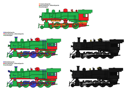 Roundhouse 4-6-0 to 4-8-0 modifications by Andrewk4
