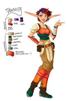J+DII Character Design: Tawniey by DCRoleplays