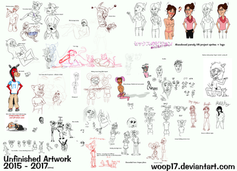 Unfinished Art Collection 15-17 by woop17