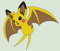 Pokemon Fusion Base 13~Pikabat~ by Xbox-DS-Gameboy
