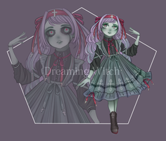 Zombie Girl Adopt AUCTION - (Closed) #6 by Dreaming-Witch