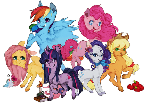 the pony family by urukins