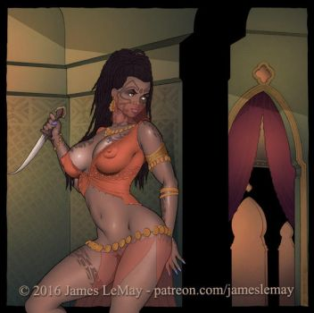 Kleeah as a Harem Slave-Girl by James-LeMay-Graphix