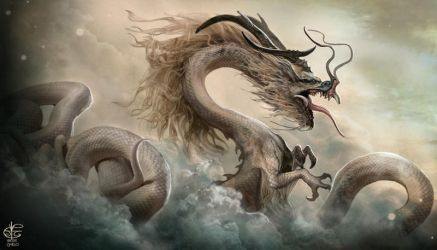 Chinese Dragon by Vincent-Covielloart