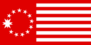 Flag of the United States of Mars by RvBOMally
