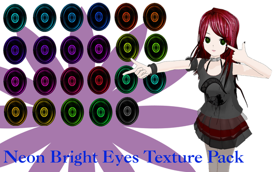 MMD Neon Bright Eyes Texture Pack by MMD-Nay-PMD