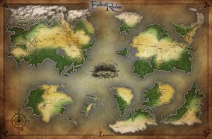 Endless Realms - World Map of Lumis by jocarra