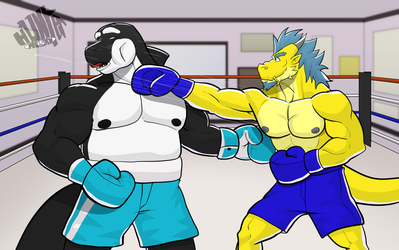 Commission wave 3: Keep em up or get punched by GenshiTatsunora