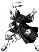 Black and White Deidara by Kyokyogirl