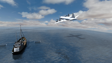 Daz Caparros Mausel P3 Fishingboat Flyby 5 by anthsco