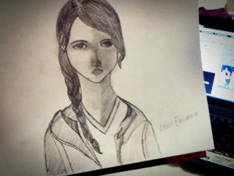 Sketch : Katniss Everdeen by kailascribbles