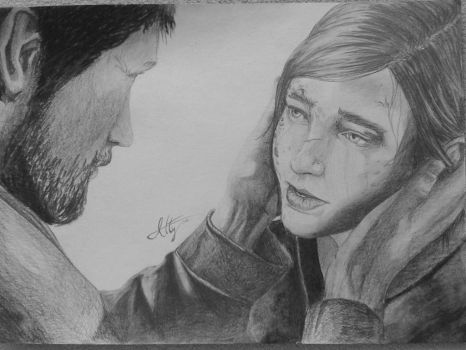 Joel and Ellie - The Last of Us by Atterca