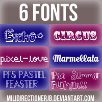 Pack De Fonts by MiliDirectionerJB