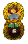 Frisk and Chara by SashaStub