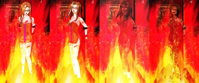 Badend:Evergreen died in flame by softsai