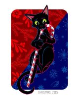 Christmas Cat by dhulteen