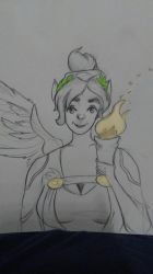 Mercy-Winged victory by sunfl0werart