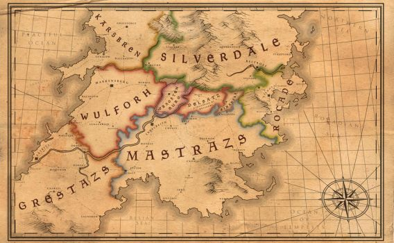 The Continent of Eurys: a Fire Emblem map by shipanda01