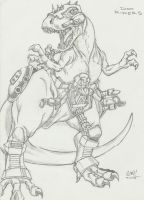 DINO RIDERS by ARTIS02