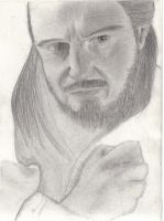 Unfinished Qui-Gon Jinn by melies
