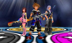 KH Deep Dive Destiny - The Destined Three by todsen19
