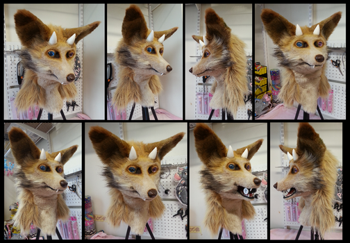 Matcha Fox Head by CuriousCreatures