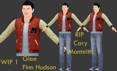 MMD - Glee - Finn Hudson ( Cory Monteith ) WIP 1 by King-Of-Snow